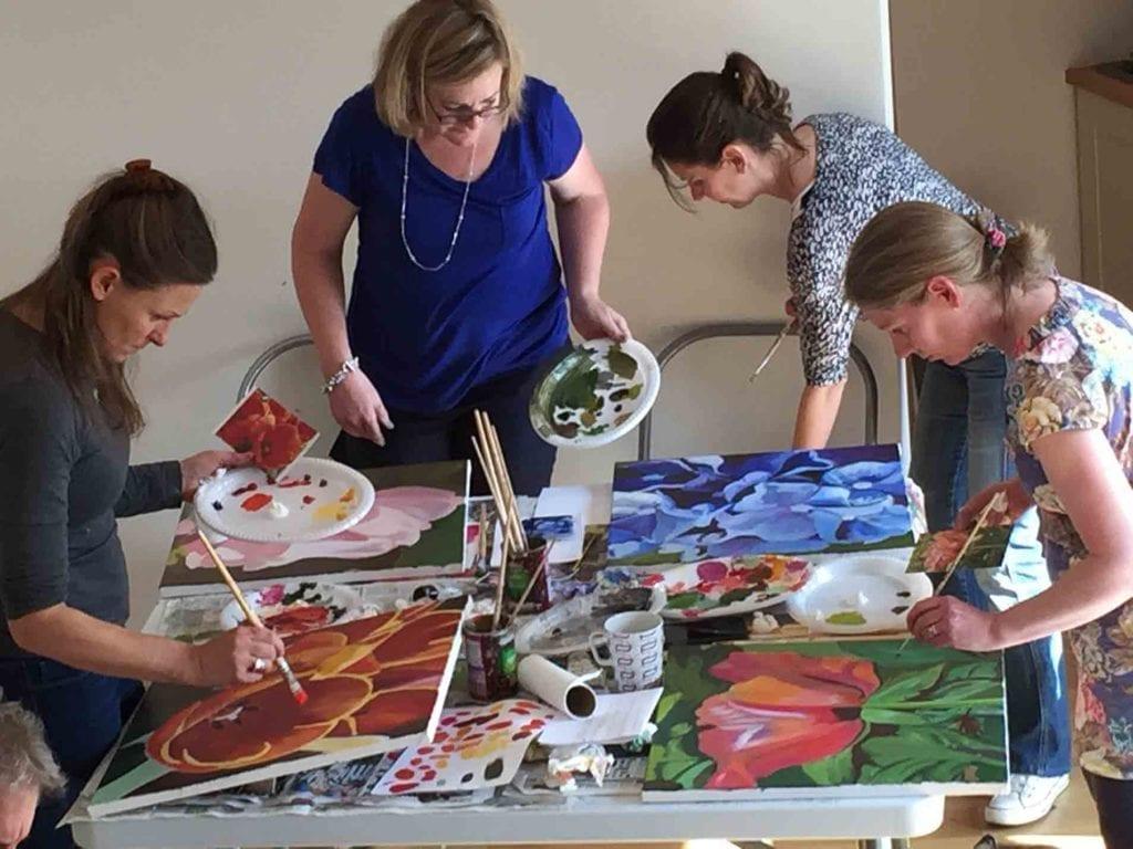 One Day Workshop Hathesage Ladies Painting